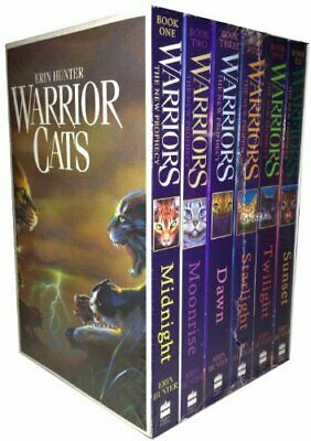 Warrior Cats Series 2 The New Prophecy by Erin Hunter 6 Books Set Midnight, Mo