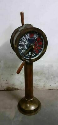 Antique Big Ship's Telegraph Brass Engine Order Maritime Collectible 43 inch