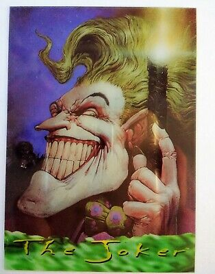 Batman Master Series Clearchrome card 1 of 2 - The Joker - Clear Chrome
