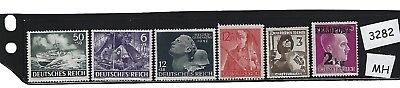 Stamp set #3282 / Third Reich era / Military issues / Stamps MH / WWII Germany