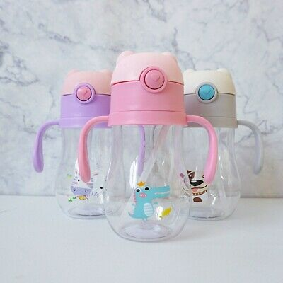 3x Lovely Baby Sippy Drinking Water Bottle Toddler Infant Children Anti-Spill UK