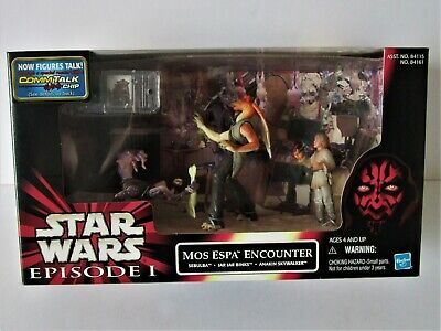 "Star Wars: Cinema Scene "" Mos Espa Encounter ""  tri pack 1999 Hasbro"