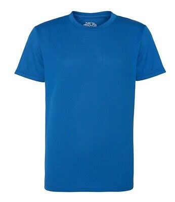 AWDis T Shirt Tee Running Training Breathable Sports Top JC001 Blue Royal