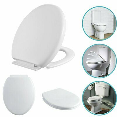 Luxury Soft Close Toilet Seat Top Fix Heavy Duty Easy Clean WC Seat Oval Design