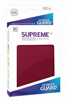 Ultimate Guard Supreme UX Sleeves, Standard Size, Burgundy, 80 Counts