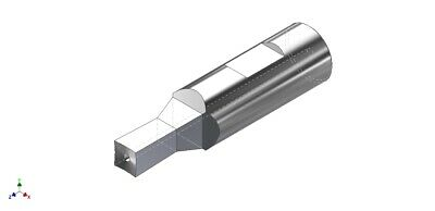 """3mm Square Rotary Broach Punch Fits 1/2"""" Shank Holder - Made in USA - S0120B"""