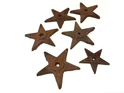 Cast Iron Rusty Star Stars Rustic Farm Ranch Decor Lot of 6