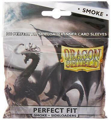 Dragon Shield Perfect Fit Sideloader Card Sleeves, 100 Pack, Smoke