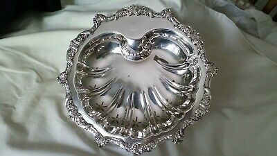EPC OLD ENGLISH BY POOLE 5034 Silverplate Footed clam/Seashell Serving Platter