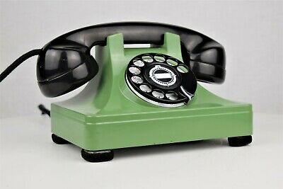Fully Refurbished Vintage Telephone North Electric Galion - Green/Black