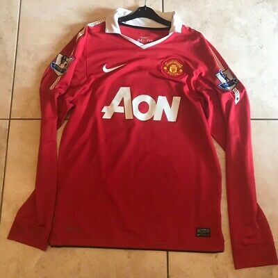 2010/11 Manchester United Man Utd Home Jersey.  Paul Scholes 18. Small.