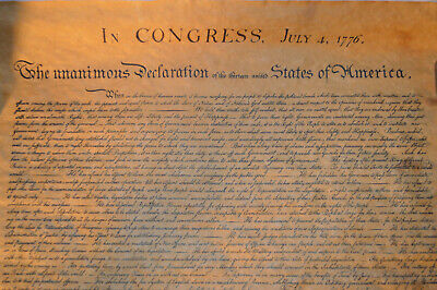 Vintage Replica Declaration of Independence from John Hancock Insurance