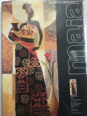 Maia Naima African Lady Cross-Stitch Kit (Black/African/Ethnic) Rare To Find.