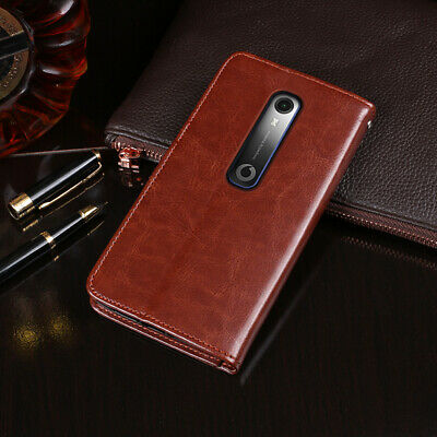 Premium Flip Leather Case TPU Silicone Phone Cover Wallet For Vodafone Smart N10