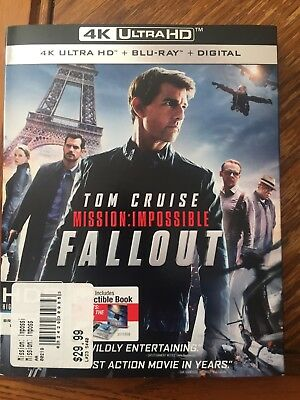 Brand New 4K Ultra HD Blu-Ray Tom Cruise Mission Impossible Fallout w/ Digital