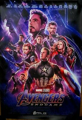 The AVENGERS Endgame Double Sided DS Final Theater 27x40 Movie Poster