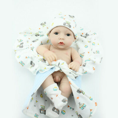 10'' Reborn Baby Dolls Full Vinyl Silicone Bathing Doll Boy Birthday Gift Toys