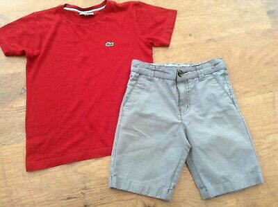Lacoste Ted Baker Boys Small Designer Summer Bundle / Outfit 6Yrs Top Shorts