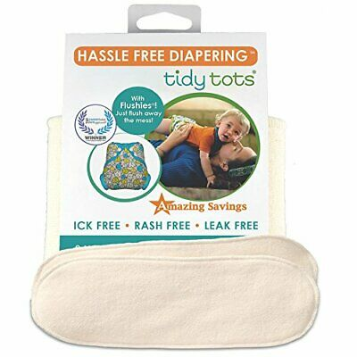 Tidy Tots Diapers Hassle Free 4-layer Organic Hemp Booster 2 Pack