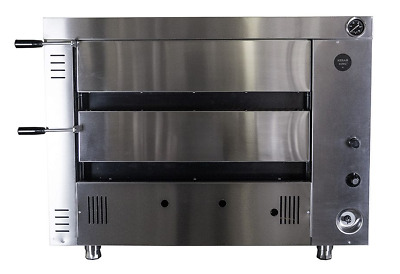 "Gas Pizza Oven 4+4 Twin Deck 12""x4 Pizza Each Deck"