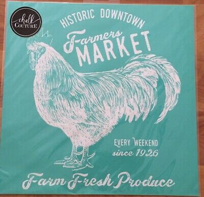 NEW ~ RETIRED ~ Farmers Market rooster Chalk Couture transfer adhesive stencil