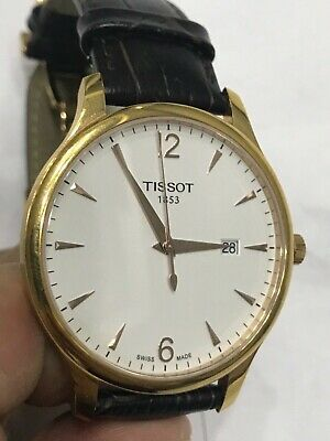 4fbd14530 Tissot T-Classic Tradition Rose Gold Leather Men's Watch T0636103603700
