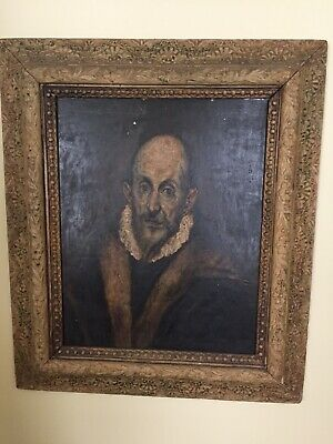1934 Authorized Copy Of El Greco Self Portrait Metropolitan Museum Of Art