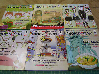 Japanese Anime Pop Culture Lifestyle Food Magazine 2011-14 Issues USED chopstick