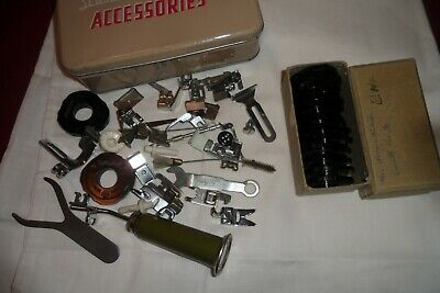 Vintage Elna Sewing Machine Accessories, Cams, & Huile Oil Can inc