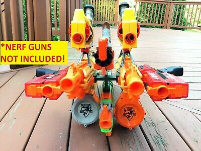 Nerf Compatible SSWI QUAD Tactical Rail Connector Joiner 4 Guns Side by Side
