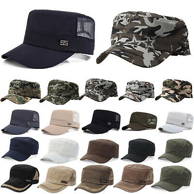 Men Women Army Plain Hat Cadet COMBAT FIELD MILITARY CAP PATROL Baseball CASUAL