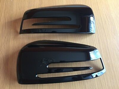 Gloss Black Wing Mirror Covers Grade B Fits Mercedes Benz A B C E S Cls W218
