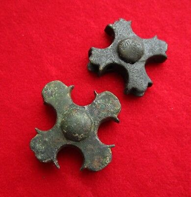 >> LEGIO X << Ancient Roman bronze Legionary fitting in shape of number X.