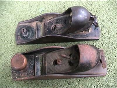 2 Stanley Made No. 220 Cast Iron Block Plane 1 Sweetheart 1 Rev-O-Noc (HSB&Co.)
