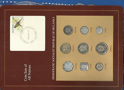 Coin Sets of All Nations Sri Lanka w/card UNC 1975-1988 2,50 cents 1975 SCARCE