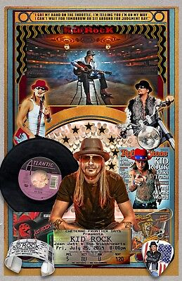 "Kid Rock-11x17"" FAN poster - Vivid Colors!  (signed by artist)"