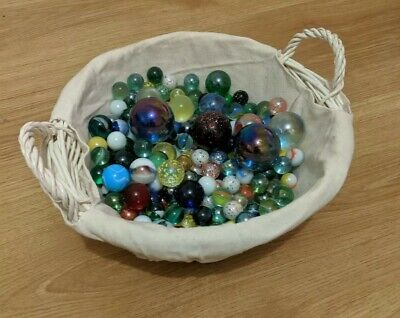 Vintage Glass Marbles 205 Different Sizes