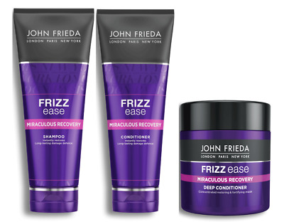 John Frieda Miraculous Recovery Shampoo Conditioner & Deep Conditioner Mask NEW