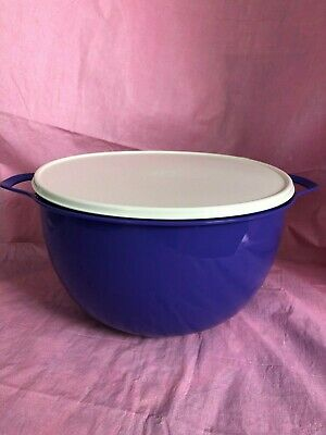 Tupperware Thatsa 42-cup Mega Bowl in Purple with White Seal - NEW!