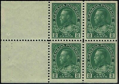 "CANADA #107b 1922 BOOKLET PANE 2c "" KING GEORGE V "" STAMP ISSUE MINT-OG/NH--VF"