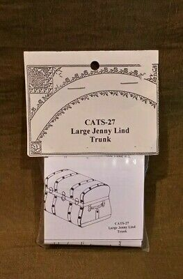 Dollhouse Miniature Large Jenny Lind Trunk Kit by Cats Paw