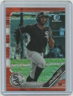 2019 Bowman Chrome Mega Box Eloy Jimenez Orange Mojo Refractor #'D 16/25