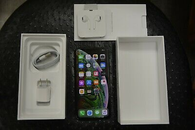 "Apple iPhone XS Max 64 GB Silver 6.5"" Super Retina Dual 12 MP 1Y WARRANTY FREE S"