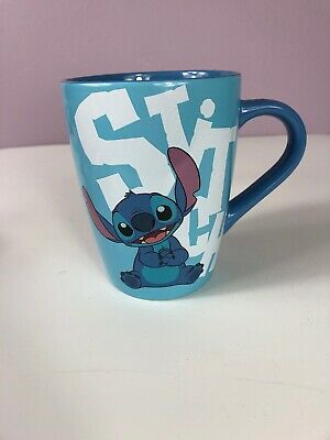 DIsney Store STITCH Ceramic Mug New With Tags Blue Authentic