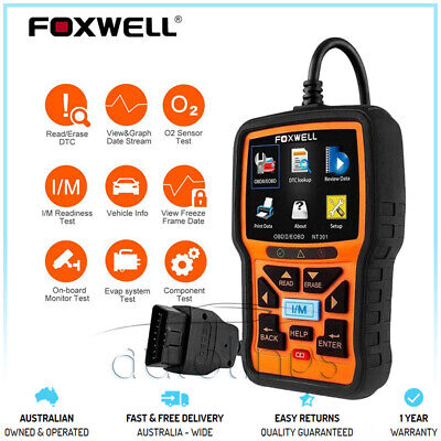 FOXWELL NT301 Car Engine OBD2 Code Reader Diagnostic Scanner Tool Fits Ssangyong