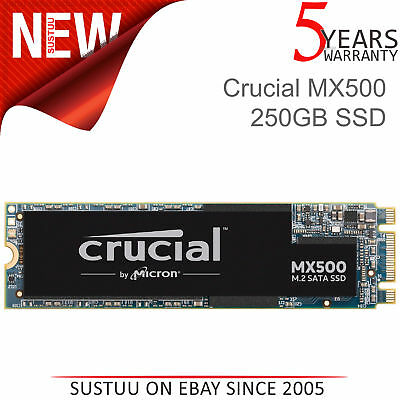 Crucial MX500 250GB M.2 Tipo 2280 Interno Dispositivo Estado Sólido │3D Nand