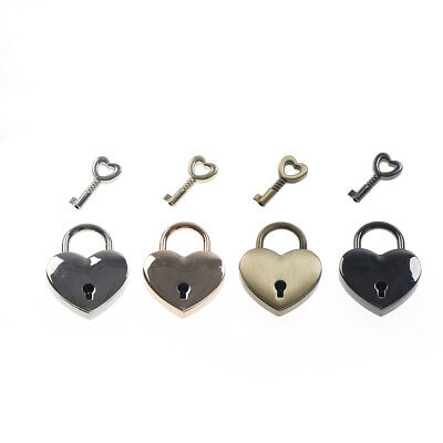 Ular Lover Love Locks Old Vintage Antique Style Small Padlock  Heart Shape Y MO