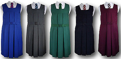 Traditional Girls School Uniform Box Pleat Gymslip - Adult Sizes & Many Colours