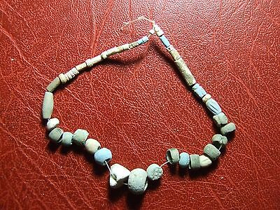 Antique stone colored beads necklace to identify