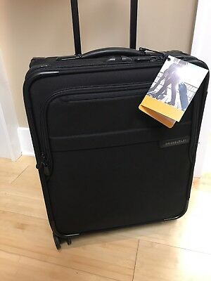 New Briggs & Riley Baseline International Carry-on Spinner Black U121CXSPW $599